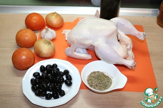 Запечённая курица по-провански вкусный пошаговый рецепт с фото как приготовить #1