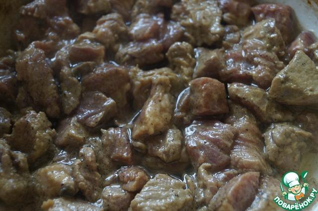 """Мясо в горшочках """"Тепло домашнего очага"""" вкусный рецепт приготовления с фотографиями #8"""