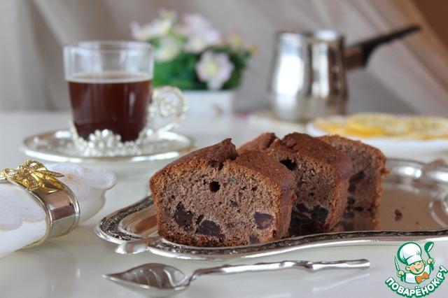 Кекс шоколадный с красным вином