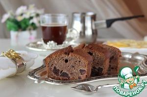 Рецепт Шоколадный кекс с красным вином