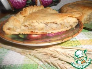 Рецепт Хрустящий рыбный пирог с рисом