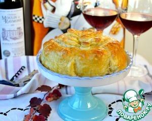 Рецепт Слоеный пирог с сыром бри
