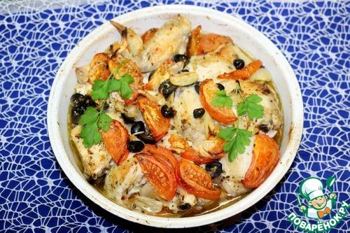 Запечённая курица по-провански вкусный пошаговый рецепт с фото как приготовить #9
