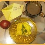 Сырный омлет в СВЧ Бон аппети