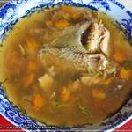 Суп с цесаркой, грибами и вермишелью