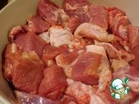 Рийет из свинины на французском багете Свинина