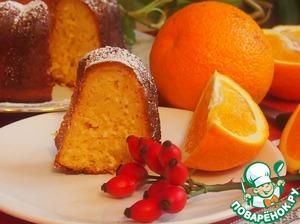 Рецепт Апельсиновый кекс с кокосом