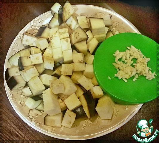 баклажаны чеснок рецепт: