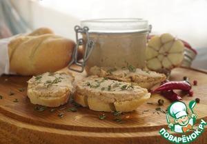 Рецепт Риет из свинины на французском багете