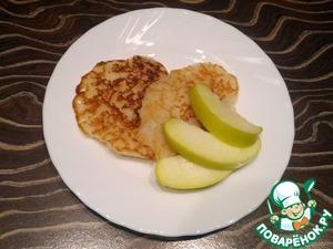 Как приготовить Оладьи из рисовой муки с яблоком домашний рецепт с фотографиями пошагово