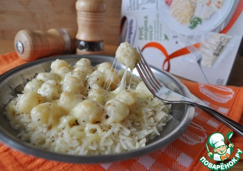 """Гребешок в сливочно-чесночном соусе на рисовой """"подушке"""" рецепт приготовления с фото пошагово как приготовить #11"""
