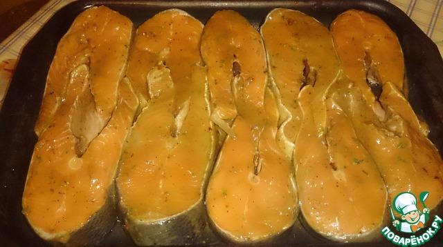 Кета приготовленная в духовке