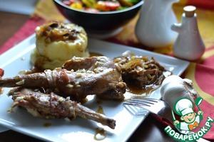 Рецепт Кролик, тушенный на грибах