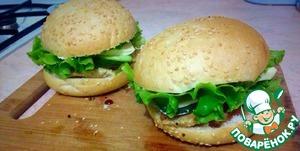 Рецепт Чикенбургеры с адыгейским сыром