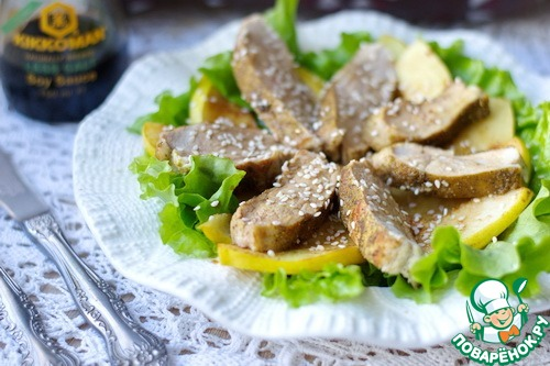 Легкий салат из куриной грудки рецепт