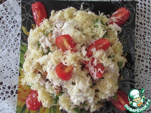 Салат цезарь с курицей рецепт с поваренок