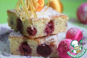 Рецепт Вишнёво-сметанный пирог