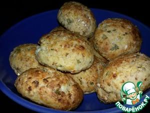 Рецепт Творожные булочки с зеленым луком