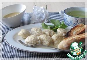 """Рецепт Кнели из щуки с соусом """"Белое масло"""""""