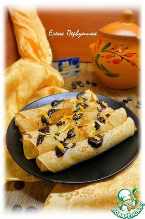 Рецепт Блины с апельсиновой цедрой и шоколадом