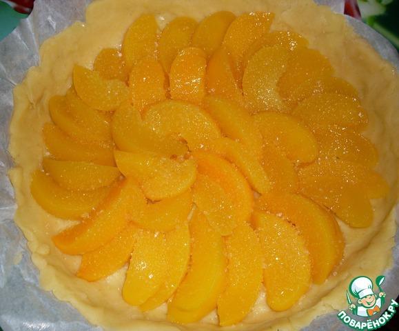 Легкий торт с персиками фото