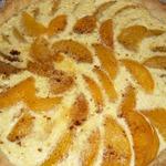 Французский легкий торт с персиками