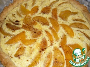 Рецепт Французский легкий торт с персиками