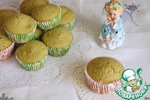 Как готовить вкусный рецепт приготовления с фотографиями Сливочные кексы с чаем матча