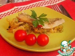 Рецепт Запеченное филе трески с брокколи