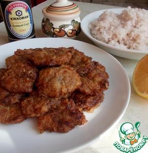 Рецепт Отбивные из куриных сердечек в соево-чесночном маринаде