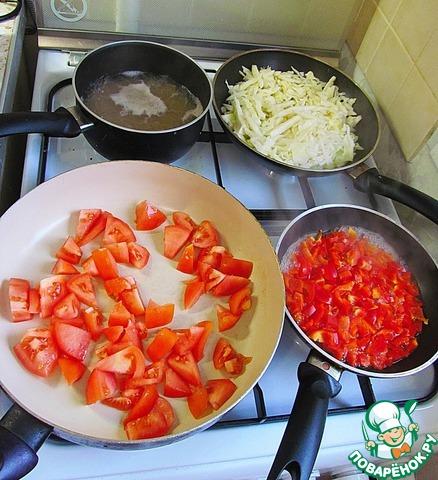 Как готовить Перцы, фаршированные овощами, для правильного питания вкусный рецепт приготовления с фотографиями пошагово #2