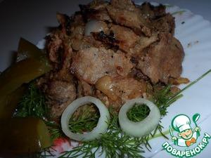 Рецепт Строганина из свинины