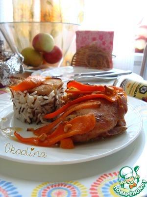 Курица в соевом соусе с яблоком и морковью пошаговый рецепт с фото