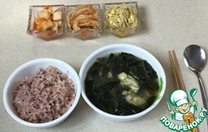 Рецепт Суп из морской капусты с устрицами