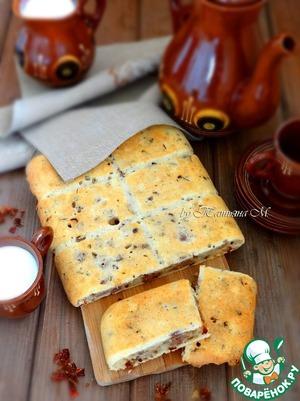 Рецепт Закусочный пирог с уткой и паприкой
