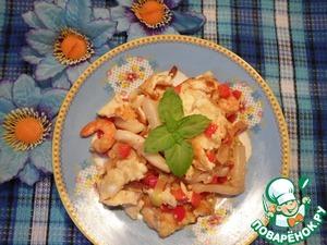 Рецепт: Омлет с морепродуктами