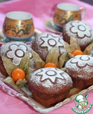 Рецепт Имбирные пончики с кофейной глазурью