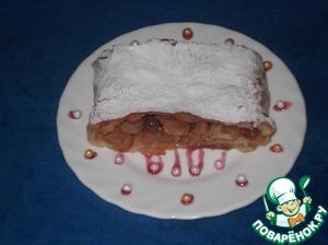 Рецепт Яблочный штрудель с орехами