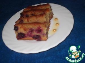 Рецепт Яблочно-смородиновый кекс с глазурью