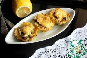 Рецепт Картофельные корзинки с грибами