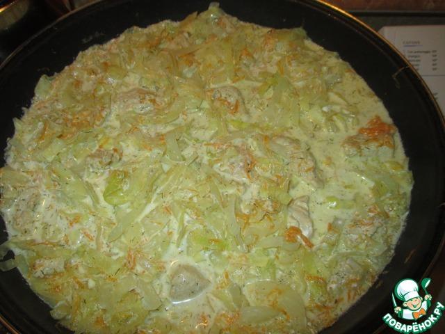 Тушёная капуста с индейкой рецепт с пошагово