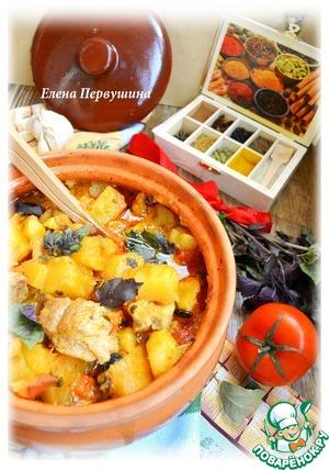 Рецепт Рагу в горшочке в сливочно-томатном соусе