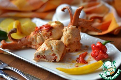 Куриные отбивные с помидорами и сыром в духовке рецепт с