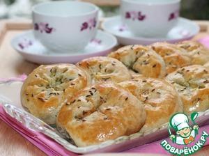 Рецепт Булочки на кефире с оливками и зеленью