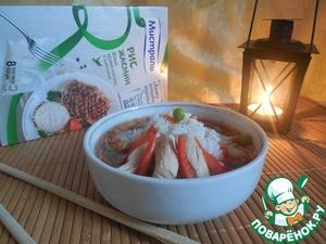 Рецепт Хрустящий суп с курицей и рисом