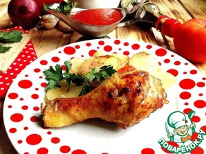 """Рецепт Картошка с курицей """"Домашний очаг"""""""