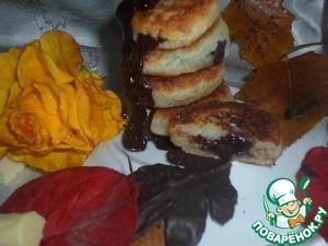 Рецепт Сырники с шоколадом и кокосовой стружкой