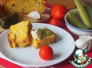 Рецепт Тыквенный кекс с чесночным маслом