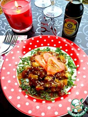 Рецепт Баклажаны в медовом соевом соусе