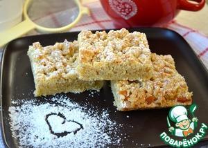 Рецепт: Песочный пирог со сметанной помадкой
